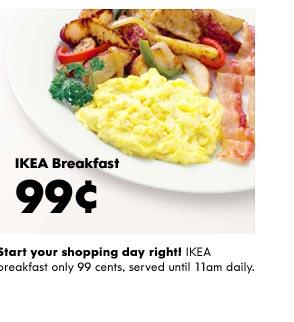 Free breakfast at ikea today through sunday moms need for Ikea renton hours