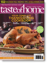 taste of home magazine november 2009 thanksgiving
