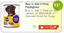 Pedigree dog food coupons printable