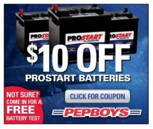 Boys on Pep Boys Has A New Coupon For  10 Off Of Pro Start Batteries