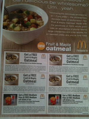 Mcdonalds Free Food Coupons In The February 20 2011 Redplum