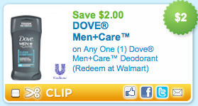Dove deodorant coupon april 2018