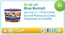 Just found this great coupon for Blue Bunny products. With this coupon, you can save $2 off one frozen item. That is a sweet coupon. Grab these coupon savings today. Do not miss out. Just sign up for this and future offers. Printable Blue Bunny Coupon Go here to print out this.