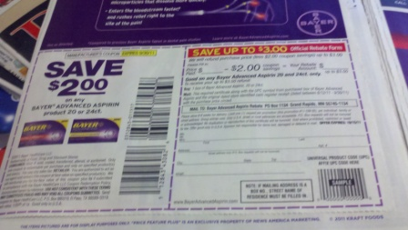 Bayer Coupon AND Rebate in the June 12, 2011 SmartSource +