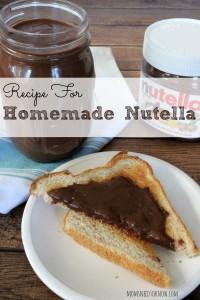 Recipe for Homemade Nutella