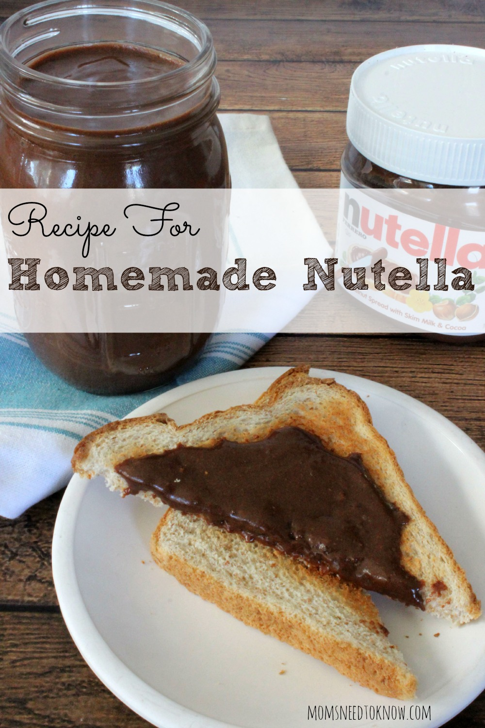 Recipe for Homemade Nutella