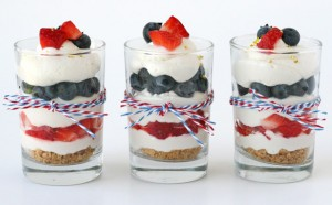 Strawberry Blueberry Mini Cheesecake Trifle