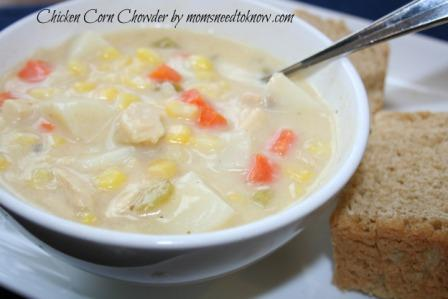 Cheesy Chicken Corn Chowder