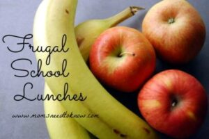 School Lunches The Frugal Way