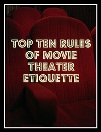 movie theater etiquette