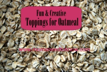 Fun and Creative Toppings For Oatmeal | Breakfast Ideas