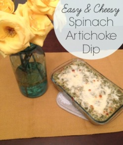 Easy Spinach Artichoke Dip | So Cheesy!