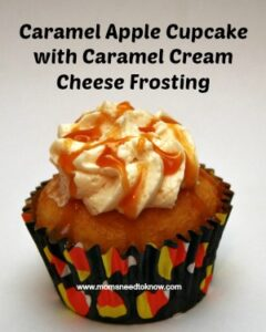 Caramel Apple Cupcake with Caramel Cream Cheese Frosting