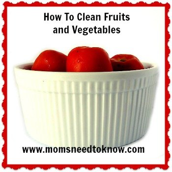 how to clean fruits and veggies