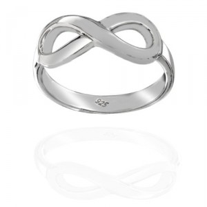 Sterling Silver Infinity Ring Only