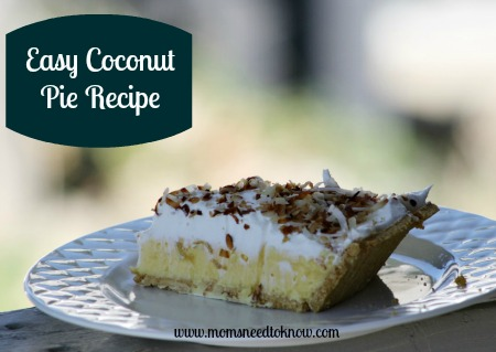 Easy Coconut Pie Recipe