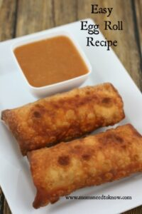 Easy Eggroll Recipe | Make Your Own Egg Rolls!