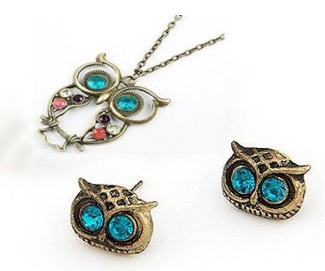 owl-necklace-earrings