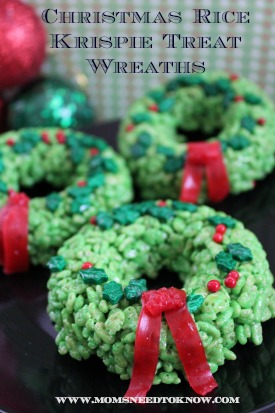 rice krispie treats idea christmas wreath