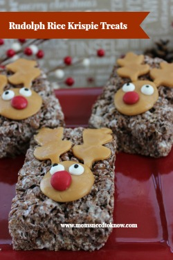 Rice Krispie Treats Recipe | Rudolph The Red Nosed Reindeer