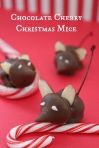 Chocolate Cherry Christmas Mice | Christmas Cookie Idea