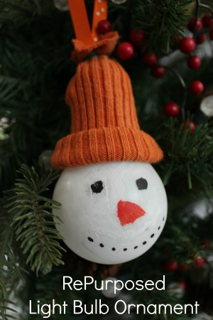 homemade christmas ornament snowman