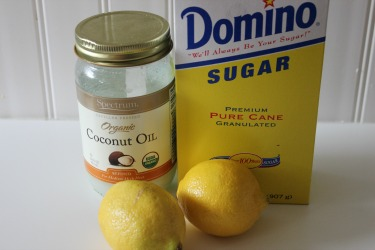 lemon sugar scrub ingredients