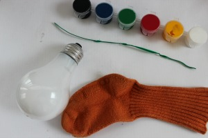lightbulb snowman supplies
