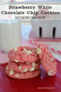 Strawberry White Chocolate Chip Cookies Recipe