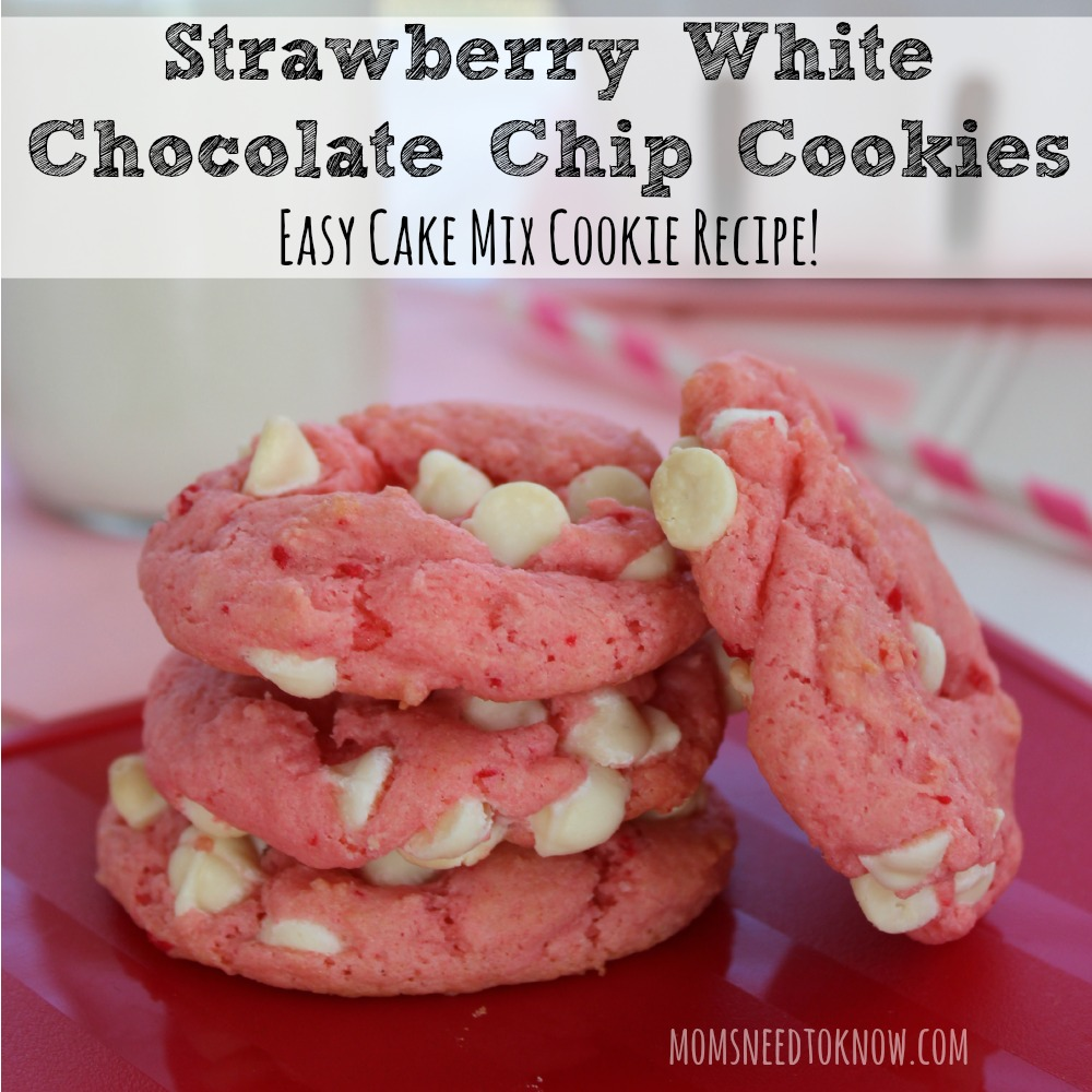 Strawberry White Chocolate Chip Cookie Recipe sq
