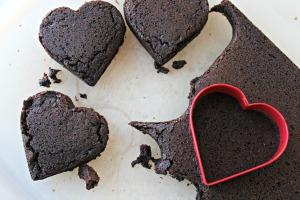 brownie hearts cut out