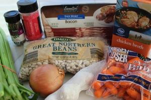 crockpot bean bacon soup ingredients
