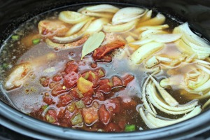 crockpot chicken tortilla soup cooking