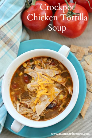 crockpot chicken tortilla soup easy chicken recipes