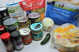crockpot chicken tortilla soup ingredients