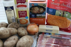 easy potato soup recipe ingredients