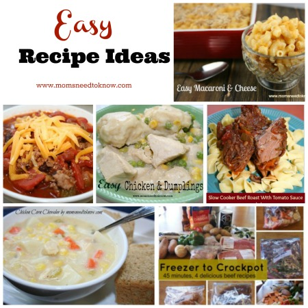 easy recipe ideas collage