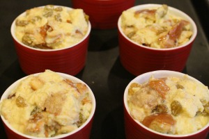egg nog bread pudding ramekins