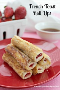 Another favorite in our house? These strawberry-filled French Toast Rollups!