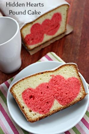 Hidden Hearts Pound Cake | Valentines Day Idea