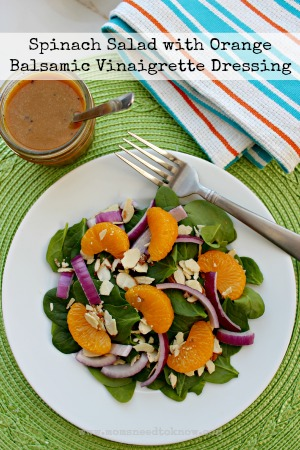 Spinach Salad with Orange Balsamic Vinaigrette Recipe