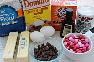 valentine blondie bars ingredients