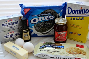 white chocolate cheesecake bars ingredients