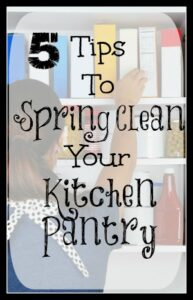 5 Tips To Spring Clean Your Kitchen Pantry!