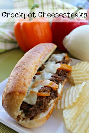 Crockpot Cheeses Steak Recipe