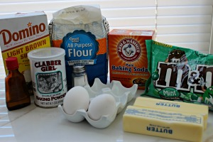 mint blondie bars ingredients