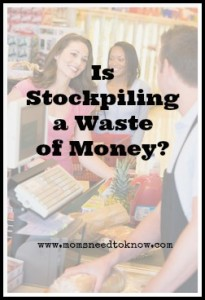 Stockpiling is a Waste of Money and a Sign of Greed?