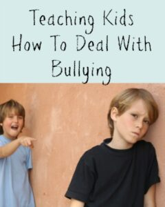Teaching Kids How To Deal With Bullying