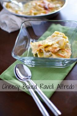 baked ravioli alfredo