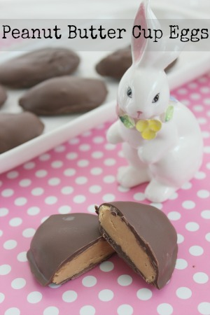 peanut butter cup eggs for easter
